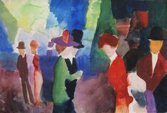 """""""August Macke, People Who Meet, 1914 """""""