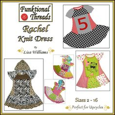 Rachel Knit Dress Downloadable Sewing Pattern by Funktional Threads $9.95