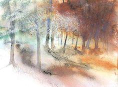 Lumières d'hiver - Painting,  60x80 cm ©2005 par Reine-Marie PiNCHON -  Peinture