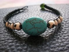 Cool Blue Turquoise wax rope colorfulness bracelet Valentine collection on Etsy, ฿204.08