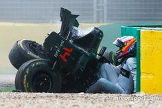 Alonso crash. Australian GP 2016