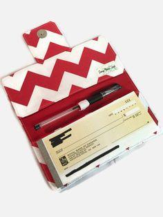 Checkbook cover Fabric Checkbook Cover Checkbook Holder
