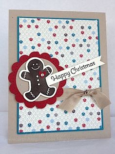 Scentsational Season & matching framelits, More Merry Messages, & Festival of Prints dsp are featured in Deb's cute card.