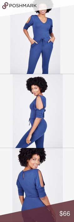Summer & Sage Slit Sleeve Jumpsuit A one & done style solution like this gorgeous blue Summer & Sage Jumpsuit? Yes please! Color: Navy Fabric: 95% Modal, 5% Elastane Fit: Fitted, Stretchy Origin: Imported Summer & Sage Pants Jumpsuits & Rompers