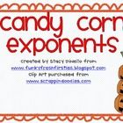 This is a pack containing:1) sheet where students must calculate exponents2) a blank candy corn sheet for teachers to use with their own math pro...