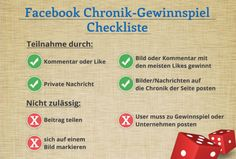 #Checkliste: Das gilt es, bei einem #Facebook #Gewinnspiel zu beachten.