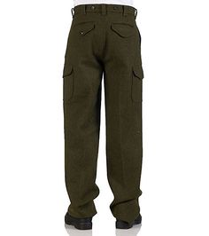 FILSON+Mackinaw+wool+field+pants+4+pocket+detail+Zip+and+button+closure+Cargo+style