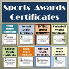 Free printable soccer certificates soccer awards soccer sports awards bundle certificates ballots eight different sports yelopaper Gallery