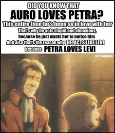 Why am I sad now? | Attack on Titan / Shingeki no Kyojin | Petra Ral x Levi/Rivaille and Auro x Petra