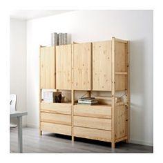 IKEA - IVAR, 2 Elem/Schrank/Kommode, Unbehandeltes Massivholz ist ein robustes Naturmaterial, das durch Ölen oder Wachsen noch strapazierfähiger und pflegeleichter wird.Mit Lasur oder der Lieblingsfarbe behandelt wird das Möbelstück ganz individuell.