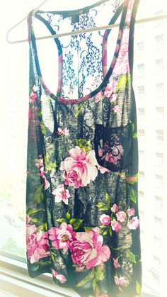 Floral tank, summery and sheer