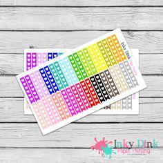 New to InkyDinkPrinting on Etsy: 40 Heart Checklist Half Sheet Planner Stickers Erin Condren Happy Planner Plum Planner Sticker Sampler EC Life Planner Limelife HS-07 (2.75 USD)