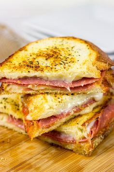 These Italian Grilled Cheese Sandwiches are layered with salami, provolone and mozzarella…and they make for one epic sandwich on a chilly winter day!