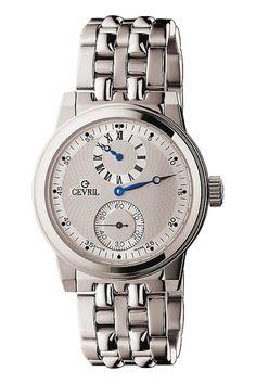 049b1980332 Gevril 2401 Gramercy Relógio De Aço Inoxidável