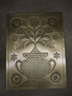 This old style punched tin used to be made in two pieces and seam together  ... Piercedtin.com makes as a whole panel