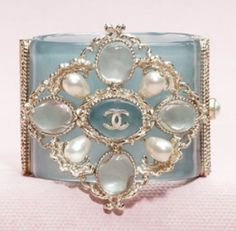 Chanel cuff | ♥ silver & blue ♥)