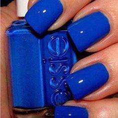 Pretty blue nails :)