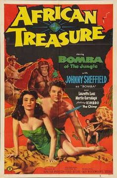 African Treasure (1952) Against stock footage of lions, elephants and wildebeasts, Bomba the Jungle Boy captures a pair of nefarious diamond smugglers.