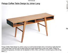folding retro coffee table