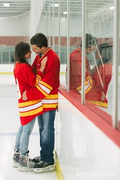 Romeoville Hockey Engagement Photos by Brittany Bekas Photography