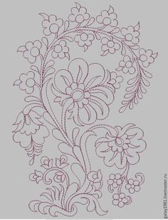 Embroidery Motifs, Indian Embroidery, Embroidery Transfers, Hand Embroidery Designs, Fairy Crafts, Curve Design, Rangoli Designs, Cross Stitch Designs, Illustration Art