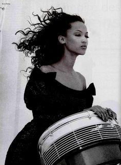 """""""L'Empire Des Sens"""", L'Officiel France, 1994  Photographer: Bruno Bisang  Model: Tyra Banks"""