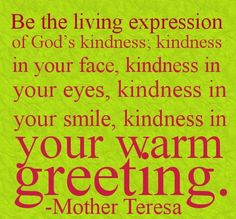 Be a living expression of God's love