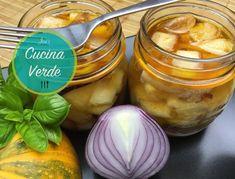 Zucchini einlegen - Rezept von Joes Cucina Verde Cantaloupe, Fruit, Food, Canning, Honey, Zucchini Side Dishes, Pickling, Garlic, Essen