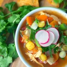 Mexican Chicken Posole Soup