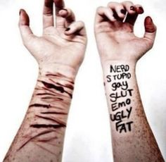 just a visual representation of what those words you call us do to us. what they really do to us.