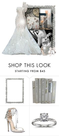 """""""Silver Bells"""" by tayswift-1d ❤ liked on Polyvore featuring Olivia Riegel, Marchesa, Blue Nile, Silver and wedding"""