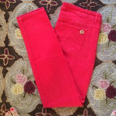 Red MICHAEL Michael Kors jeans Fun red Michael Kors  straight leg jeans are perfect for any season. Worn a few times but in great condition. I cut the size tag out because it was massively itchy, but they still have the label. Size 10 MICHAEL Michael Kors Jeans