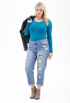 >Classic Knit Bodysuit at Forever 21 Plus