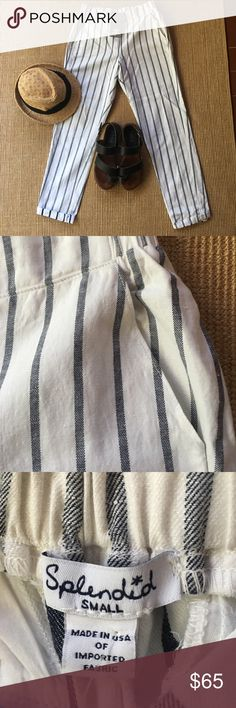 Beach 🌊 Striped Pants (A20) Adorable striped pants super soft, elastic waist in the back side pockets. Never been worn. Splendid Pants