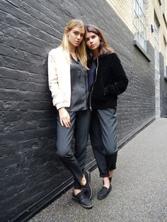 Spotted on day 1 of LFW (SS17): Bloggers Joanna and Sarah Haplin from What She Said taking on scandi-chic dressing.