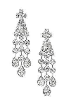 Diamond drop earrings from the Mrs. Winston category.