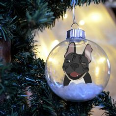 Personalized French Bulldog Christmas Ornament... | French Bulldog ...
