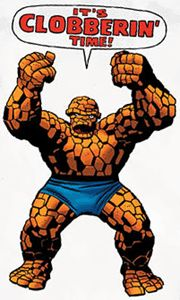 Ben Grimm The Thing It's Clobberin' Time Clobbering Fantastic 4 Four