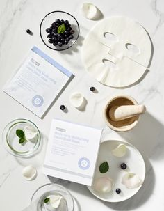 By Wishtrend Hours-Long Moisturizing Gauze Sheet Mask provides a long-lasting moisturising effect. Cranberry Fruit, Blueberry Fruit, Glutathione Whitening, Flat Lay Inspiration, Makeup Store, Cosmetic Packaging, Sheet Mask, Cleansing Oil, Beauty Recipe