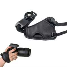 [$1.58] Hand Grip Soft PU Leather Wrist Strap for Nikon / Canon / Sony Camera