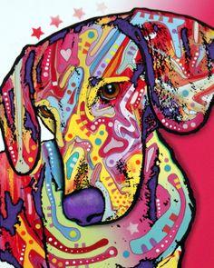 dachshund paintings