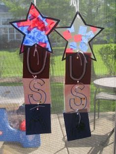 USA Tissue Paper Stars Craft