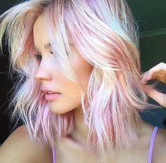 Pink blonde hair envy