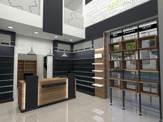 Φαρμακεία | Φόρμα Πουράνης Shoe Store Design, Retail Store Design, Mobile Shop Design, Shop Shelving, Counter Design, Boutique Interior, Store Interiors, Shelf Design, Restaurant Design