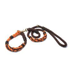 Stylish Skipper & Cruiser matching rope collar & leash set.