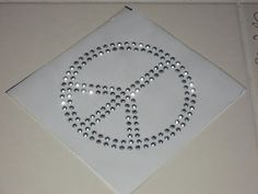 Silver Nail Head Sequin BLINGY Peace Sign Heat by cthorses66, $3.50