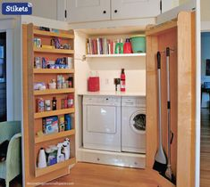 """Visit our site for more information on """"laundry room storage diy cabinets"""". It is actually an exceptional area to read more. Laundry Room Rugs, Laundry Closet, Small Laundry Rooms, Laundry Room Organization, Laundry Room Design, Bathroom Design Small, Organization Ideas, Closet Storage, Diy Storage"""