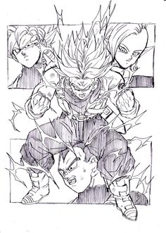 """Trunks' explosion of anger!!"" Drawn by: Young Jijii Found by: #SonGokuKakarot"