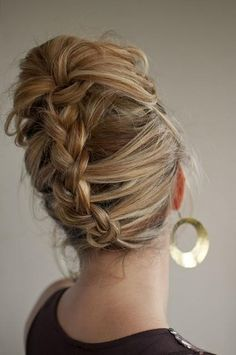 up do with a braided twist | Hairstyles and Beauty Tips