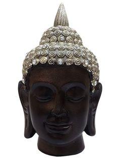 Cabeça de Buda em Resina 20cm - http://www.artesintonia.com.br/cabeca-de-buda-em-resina-p-decoracao-20cm-arte-decorativa